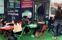 Le bus de l'Initiative par l'association Creative, en 2019